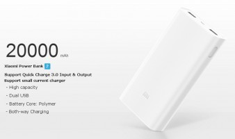 Xiaomi Power bank 20000mah ver2